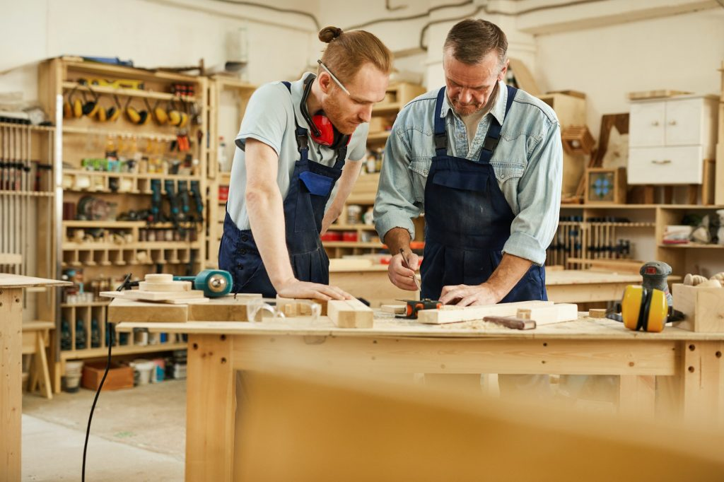 Teaching Apprentice in Joinery